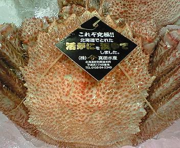 オホーツク海産毛蟹