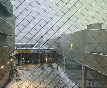 札幌市場の雪景色